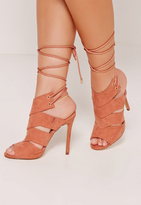 Missguided Cut Out Tie Back Mules Pink