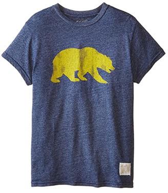Original Retro Brand The Kids Cal Bears Short Sleeve Tee (Big Kids) (Mock Twish Navy) Boy's T Shirt