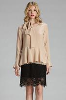 Gold Hawk Patchwork Skirt
