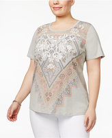 Style&Co. Style & Co Plus Size Floral-Print Top, Only at Macy's