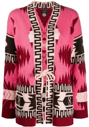 Alanui Aztec Pattern Cardigan