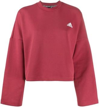 adidas 3-Stripes Doubleknit loose-fit sweatshirt
