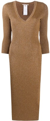 Marco De Vincenzo Ribbed Knit Midi Dress