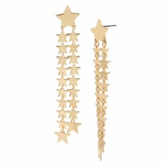 BCBGeneration Starry Fringe Linear Earrings
