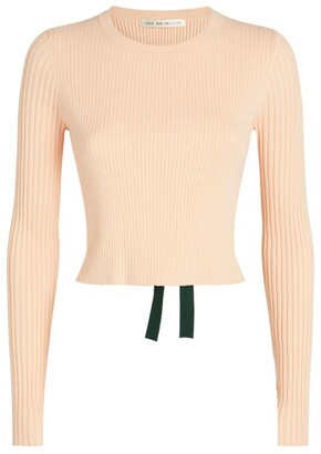 Live The Process Open-Back Cropped Sweater