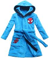 FEETOO 2017 new spider pattern boys cartoon children lengthened bathrobe robe gown home