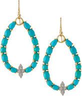 Jude Frances Moroccan 18k Yellow Gold Turquoise/Diamond Drop Earrings