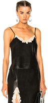 Alexander Wang Straight Cut Camisole Top with Lace in Black.