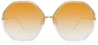 Linda Farrow 901 C9 Oversized Geometric Sunglasses