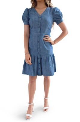 Rachel Parcell Chambray Shirtdress
