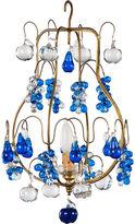 One Kings Lane Vintage Blue Murano Glass Chandelier