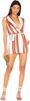 MinkPink Striped Draped Playsuit