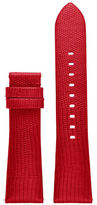 Michael Kors Access Bradshaw Lizard-Embossed Leather Strap/Red