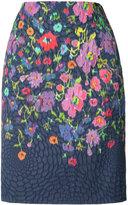 Oscar de la Renta floral print pencil skirt