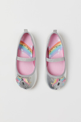 H&M Shimmery Ballet Flats - Silver