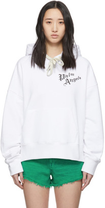 Palm Angels White Sacred Heart Hoody