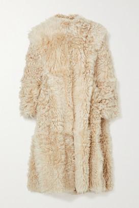 Isabel Marant Geltonia Convertible Shearling Coat - Ecru