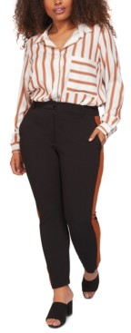 Black Tape Plus Size Contrast Side-Stripe Pants