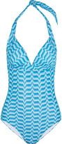 Missoni Crochet-knit halterneck swimsuit