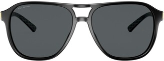 Bulgari Diagono square-frame sunglasses