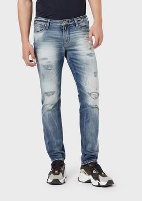 Emporio Armani Slim-Fit J06 Jeans In Comfort Cotton Twill