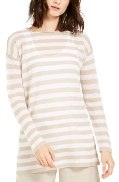 Eileen Fisher Organic Striped Tunic, Regular & Petite