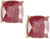 Lydell NYC Cushion-Cut CZ Speckle Stud Earrings, Pink