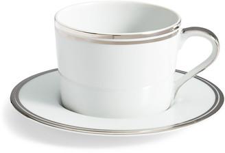 Ralph Lauren Home Wilshire Tea Cup and Saucer, Platinum