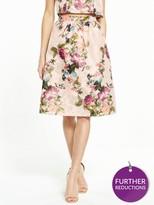 Miss Selfridge PETITE Jacquard Midi Skirt – Gold