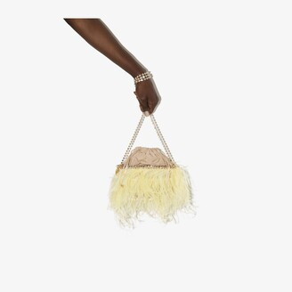 Rosantica yellow Josephine feather mini bag