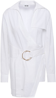 Each X Other Belted Cotton-poplin Shirt