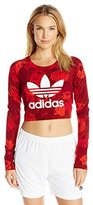 adidas Women's Crop Long Sleeve Tee