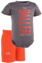 "Under Armour Baby Boy Baller"" Bodysuit & Mesh Shorts Set"