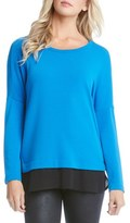 Karen Kane Women's Contrast Hem Long Sleeve Top