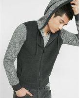 Express full zip fleece sweater hoodie