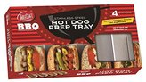 Tablecraft BBQ Stainless Steel Hot Dog Prep Tray, Silver, Medium by