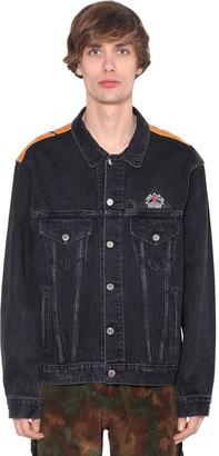 Cotton Denim & Leather Trucker Jacket