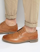 Lambretta Brogues In Tan Leather