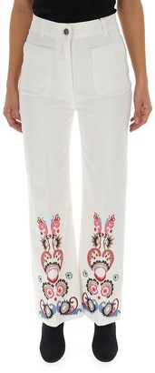 Etro Embroidered High-Waisted Jeans