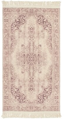 """French Connection Montana Vegetable Dyed Cotton Blush Area Rug Rug Size: Rectangle 2'6"""" x 4'2"""""""