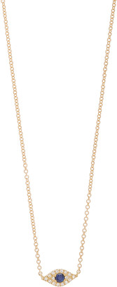 Ef Collection Evil Eye 14K Yellow-Gold and Diamond Choker Necklace