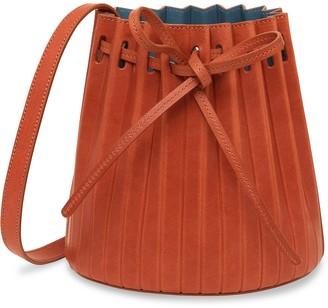 Mansur Gavriel Mini Pleated Bucket Bag - Brandy
