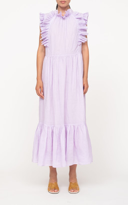 Sea Bailey Broomstick Woven Maxi Dress