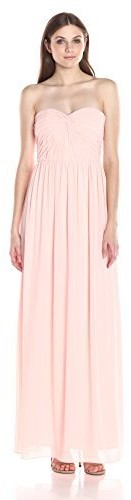 Minuet Women's Twist Ruched Bodice Long Gown