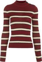 Etoile Isabel Marant Burgundy Striped Devona Jumper