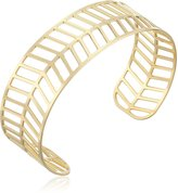 Kris Nations Geo-Leaf -Plated Cuff Bracelet, 2.75""