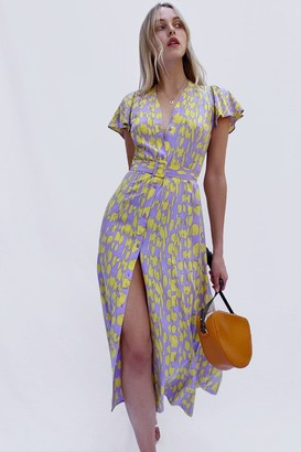 French Connection Islanna Crepe Printed Midi Dress