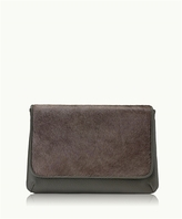 GiGi New York Elisa Clutch Anthracite Italian Haircalf