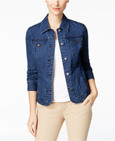 Charter Club Printed Denim Jacket, Created for Macy's