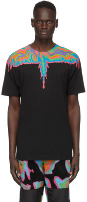 Marcelo Burlon County of Milan Black Psychedelic Wings T-Shirt